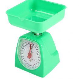 Весы кухонные LuazON LVKM-501, до 5 кг, шаг 40 г, чаша 1200 мл, пластик, зеленые