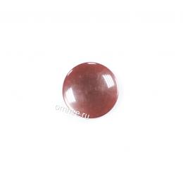 Пуговица ''карамель'' на ножке 15 мм, цв.: красно-коричневый, шт.