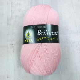 Vita Brilliant 5109 (нежно-розовый), 45% шерсть luster, 55% акрил, 100 гр. 380 м.