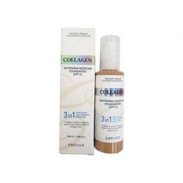 Тональный крем с коллагеном 3 в 1 для сияния кожи Enough Collagen 13, 21 тон 100 мл.