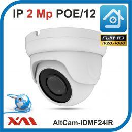 AltCam IDMF24IR. POE/12.(Металл/Белая). 1080P. 2Mpx. Камера видеонаблюдения.
