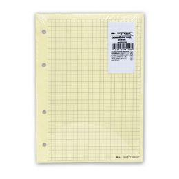 Сменный блок inФОРМАТ для тетради на кольцах А5 50 листов, желтый, цвет линовки: серый, 4 отверстия