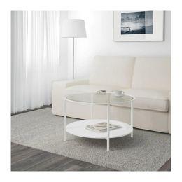 ВИТШЁ Журнальный стол, белый, стекло 75 см