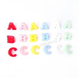 Пуговицы буквы на ножке ''A,B,C'' 12/15 мм, шт.