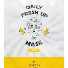 VILLAGE 11 FACTORY Тканевая маска для лица с экстрактом лимона Daily Fresh up Mask Lemon