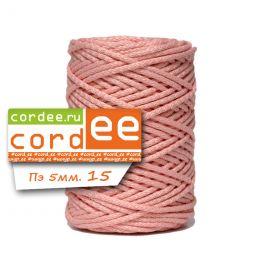 Шнур Cordee, ПЭ5 мм, цв.:15 св.розовый