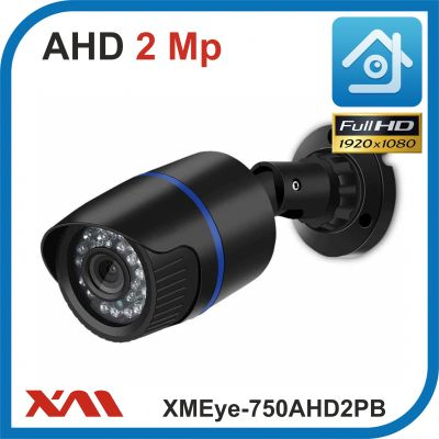 XMEye-750AHD2PB-2,8.(Пластик/Черная). 1080P. 2Mpx. Камера видеонаблюдения.