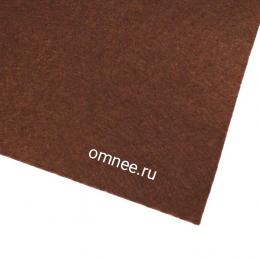Фетр листовой мягкий 1,2 мм, 20х30 см, цв.: 687 т.коричневый
