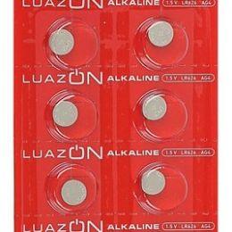Батарейка алкалиновая LuazON, AG4, LR626, блистер