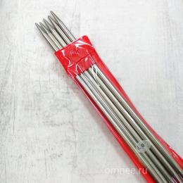 Чулочные спицы (5 шт) сталь, 20 см, № 5