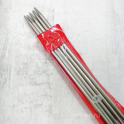 Чулочные спицы №5 мм (5 шт) 20 см, сталь