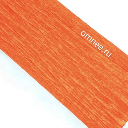 Крепированная бумага, цв.: яр.оранжевый 43, Китай, 2,5 м х 50 см
