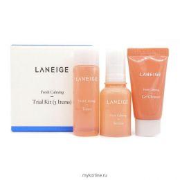 LANEIGE MINIATURE Fresh Calming Trial Kit (3Items) Успокаивающий и освежающий набор миниатюр (3 позиции)