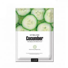 COS.W My Real Skin Cucumber Facial Mask (10pc) Тканевая маска для лица с экстрактом огурца