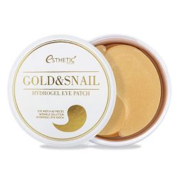 [ESTHETIC HOUSE] Гидрогел. патчи д/ глаз ЗОЛОТО/УЛИТКА GOLD&SNAIL HYDROGEL EYEPATCH