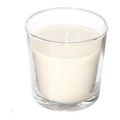 СИНЛИГ Ароматическая свеча в стакане, Сладкая ваниль, естественный, 7,5 см