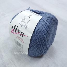 Diva natural cotton baby (26 чернильный джинс), 100% хлопок, 50 г. 200 м.