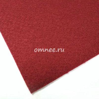 Фетр листовой мягкий 1,2 мм, 20х30 см, цв.: бордовый