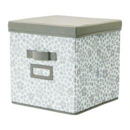 СТОРСТАББЕ Коробка с крышкой, бежевый, 30 x 30 x 30 см