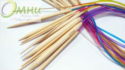 Круговые бамбуковые спицы (на трубке), 80 см, №2