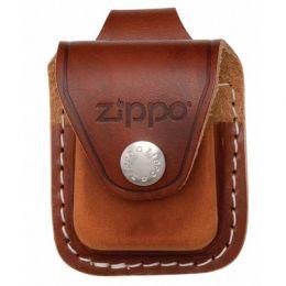 Чехол ZIPPO для широкой зажигалки кожа с кожаным фиксатором на ремень коричневый