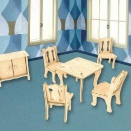 Деревянный пазл, Мебель/столовая 2пл., 24*19см.