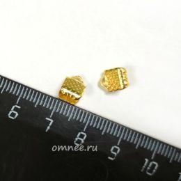Зажимы для лент, 6 мм , цв.: золото