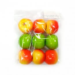 Яблоки 2,6 см, уп. 9 шт. цвет: в ассортименте, пластик.