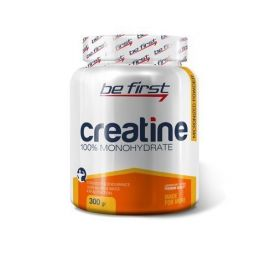 BE FIRST Creatine 100% monohydrate, банка 300 г., apple.