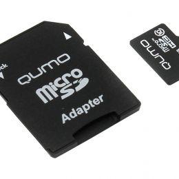 MicroSDHC 32Gb QUMO Class 10. Карта памяти + АДАПТЕР.