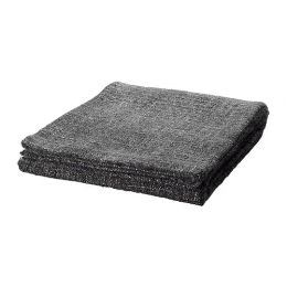 ГУРЛИ Плед, серый/черный 120 х 180 см