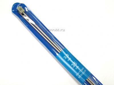 Спицы 35 см № 3 металлич., прямые с наконечником