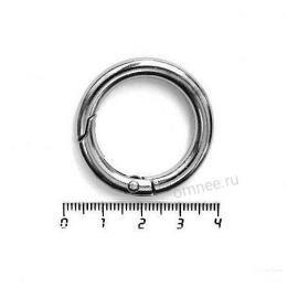 Карабин кольцо 25 мм(внутр.), цв.: чёрный никель, шт.