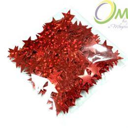 Конфетти ''Звёздочки'' 1 см, цв.: красный