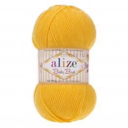 Alize Baby best 216 (желтый), 100гр. 240м. 90%акрил, 10% бамбук