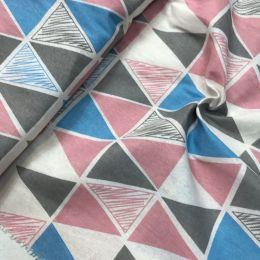 лен треугольники розово-голубые