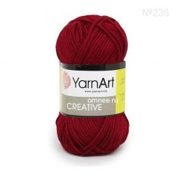YarnArt Creative 238 (бордо) 100% хлопок, 50гр., 85 м.