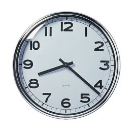 ПУГГ Настенные часы, нержавеющ сталь, 32 см