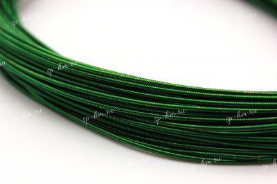 Канитель жесткая Dark Green 1 мм 5 гр (Индия)