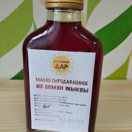 "Сыродавленое масло из семян тыквы ""Солнечный дар"" 100 мл."