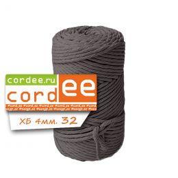 Шпагат Cordee 4 мм, 100 метров, хлопковый кручёный, цв.: тауп