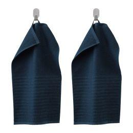 ВОГШЁН Полотенце, 2 шт, темно-синий 30 х 50 см