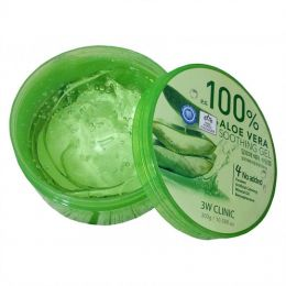 [3W CLINIC] Гель универсальный АЛОЭ Aloe Vera Soothing Gel 100%, 300 гр
