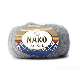 Nako Pure Sock, цв.:10027, шерсть девственная 70%, полиамид 30% , 50 гр. 200 м.