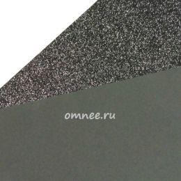 Фоамиран глиттерный 2мм, 20х30 см, цв.: 018 чёрный