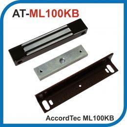 Accordtec. ML-100KB. Коричневый. Электромагнитный замок с уголком. Усилие 100 кг.