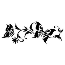 Сонет Трафарет, Бордюр бабочки, 10 х 25 см, пластиковый