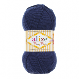 Alize Baby best (58 т.синий), 100гр. 240м. 90%акрил, 10% бамбук