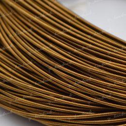 Канитель жесткая Antique Gold 1,25 мм 5 гр (Индия)