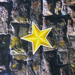 "Наклейка на авто ""Золотая звезда"" 8х8см"